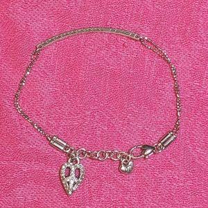Brighton silver Peace charm rhinestone bracelet